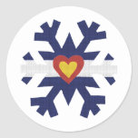 I Heart Colorado Flag Snowflake