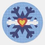 I Heart Colorado Flag Snowflake Sticker