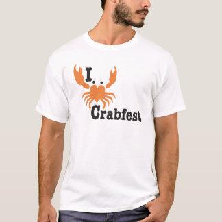 I Heart Crabfest Orange Diagonal T-Shirt