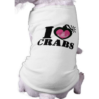 I Heart Crabs for Dog Shirt