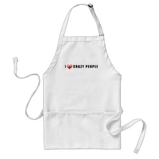 I Heart Crazy People Standard Apron