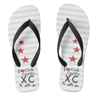 I heart Cross Country Running XC Thongs