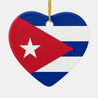 I Heart Cuba! Ceramic Ornament