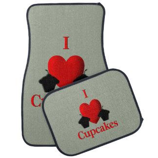 I Heart Cupcakes Car Mat