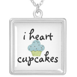 i heart cupcakes cupcake Necklace