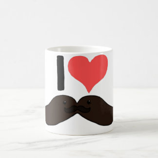 I heart Cute Moustache's Coffee Mug