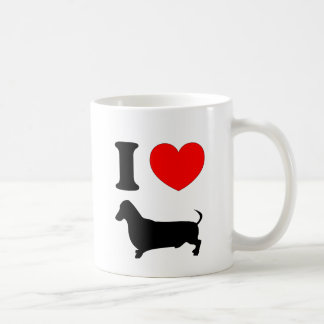 I Heart Dachshund Basic White Mug
