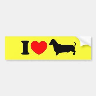 I Heart Dachshund - Landscape Bumper Sticker