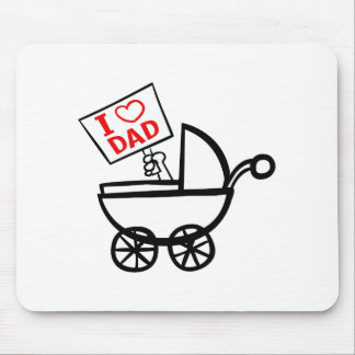 I heart Dad baby stroller Mouse Mat