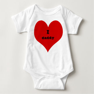 i heart daddy baby suit clothing baby bodysuit