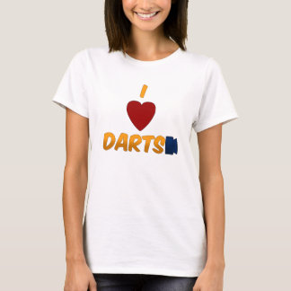 I Heart Darts Ladies Babydoll T-Shirt