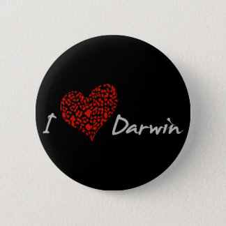 I Heart Darwin 6 Cm Round Badge