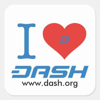 I Heart Dash Square Sticker