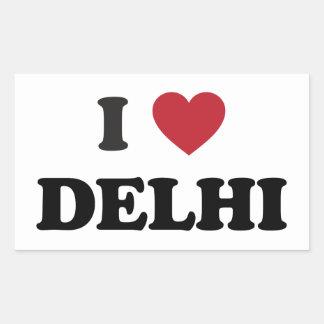 I Heart Delhi India Rectangular Sticker