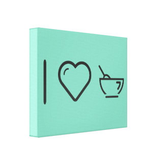 I Heart Dessert Cups Gallery Wrapped Canvas