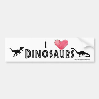 I heart Dinosaurs bumper sticker