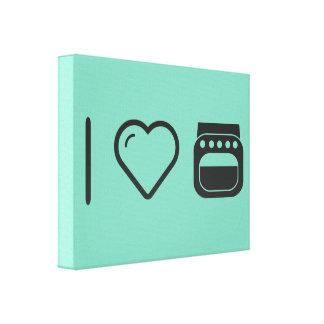I Heart Dishwashers Gallery Wrap Canvas