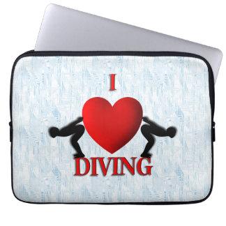 I Heart Diving Laptop Sleeve