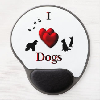 I Heart Dogs Gel Mouse Pad