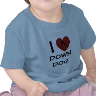 I Heart Down Dog - Baby Yoga Clothes Tees