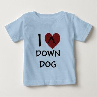 I Heart Down Dog - Baby Yoga Clothes T-shirts