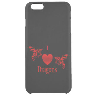I Heart Dragons Clear iPhone 6 Plus Case