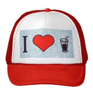 I Heart Drinking Soda With A Straw Cap