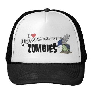 I heart drop kicking zombies cap