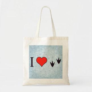 I Heart Ducks Budget Tote Bag