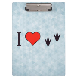 I Heart Ducks Clipboard