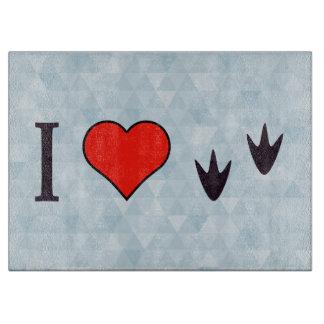 I Heart Ducks Cutting Board