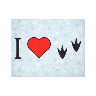 I Heart Ducks Gallery Wrapped Canvas