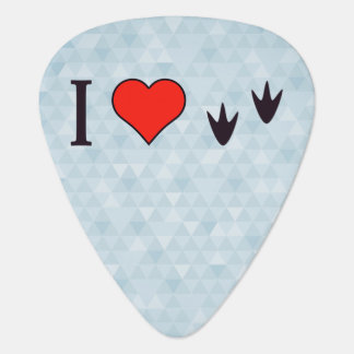 I Heart Ducks Guitar Pick