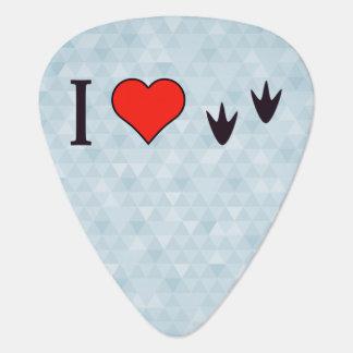I Heart Ducks Guitar Pick