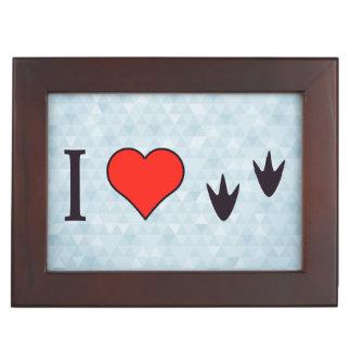 I Heart Ducks Memory Box