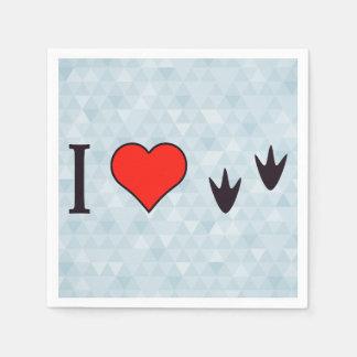 I Heart Ducks Paper Napkins