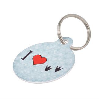 I Heart Ducks Pet Nametag