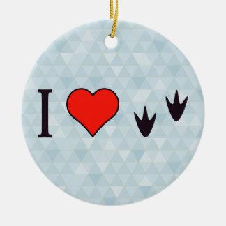 I Heart Ducks Round Ceramic Decoration
