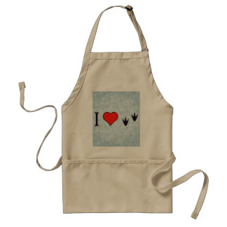 I Heart Ducks Standard Apron