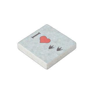 I Heart Ducks Stone Magnet