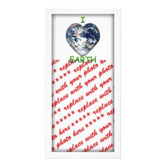 I Heart Earth I ♥ Earth Photo Card Template