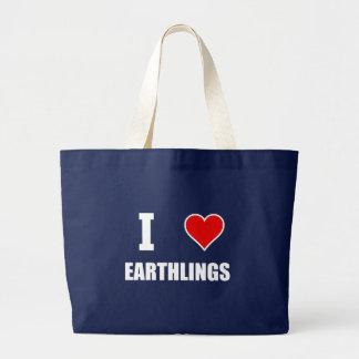 I Heart Earthlings Large Tote Bag