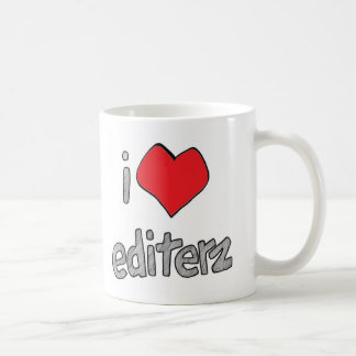 i heart editerz white coffee mug