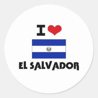 I HEART EL SALVADOR STICKERS