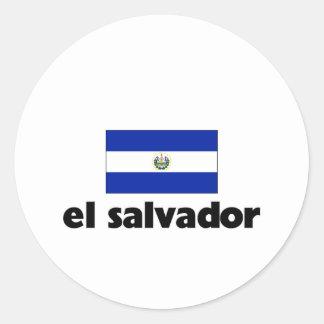 I HEART EL SALVADOR ROUND STICKER