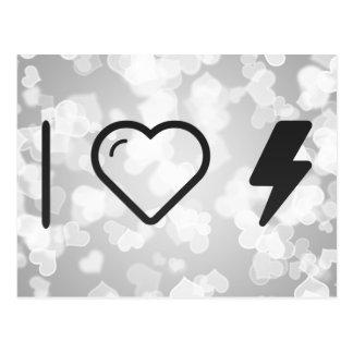 I Heart Electric Currents Postcard