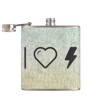I Heart Electric Currents Flask