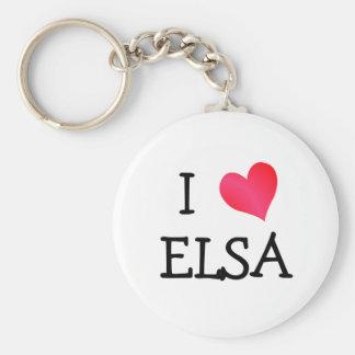 I Heart Elsa Basic Round Button Key Ring