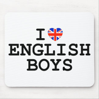 I Heart English Boys Mouse Pad
