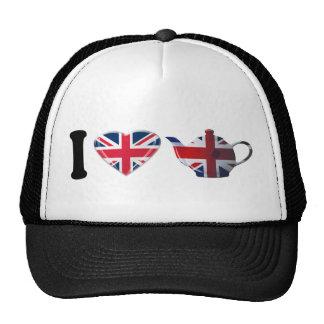 I Heart English Tea, Fun Patriotic Art Cap